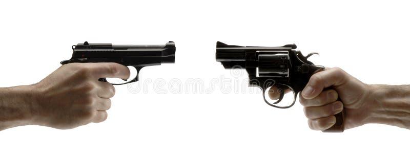 konfliktu pistolet zdjęcia stock