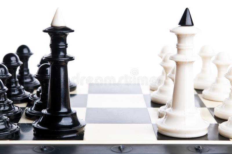 konfrontacja szachowi kawałki obrazy royalty free