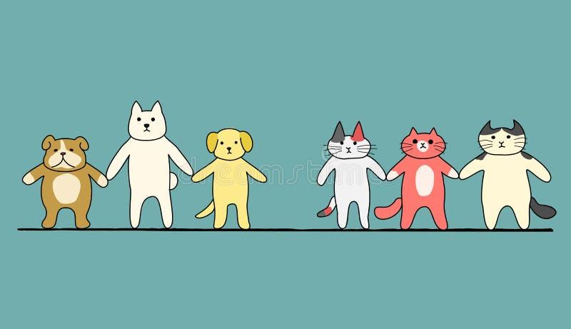 konfrontation stock illustrationer