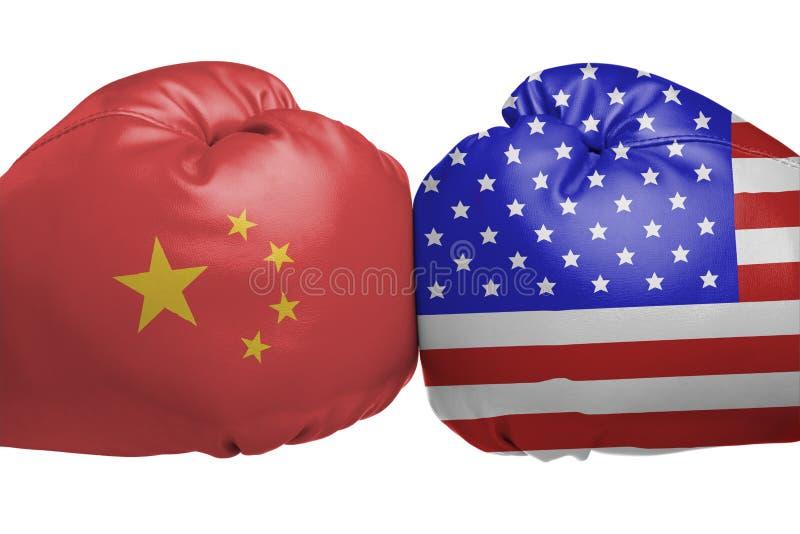 Konfrontation mellan Kina och Förenta staterna fotografering för bildbyråer
