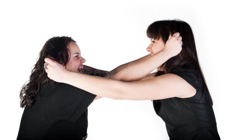 Konfrontation zwei Mädchen lizenzfreie stockfotos
