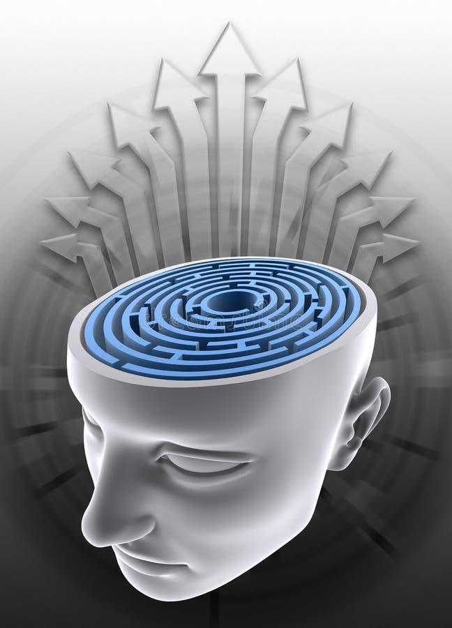 Konfuser Verstand lizenzfreie abbildung