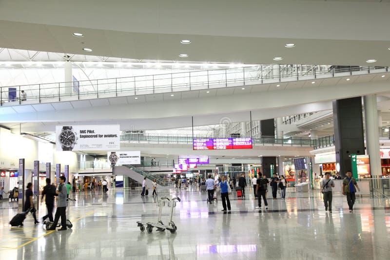 kong för flygplatshong international royaltyfria foton