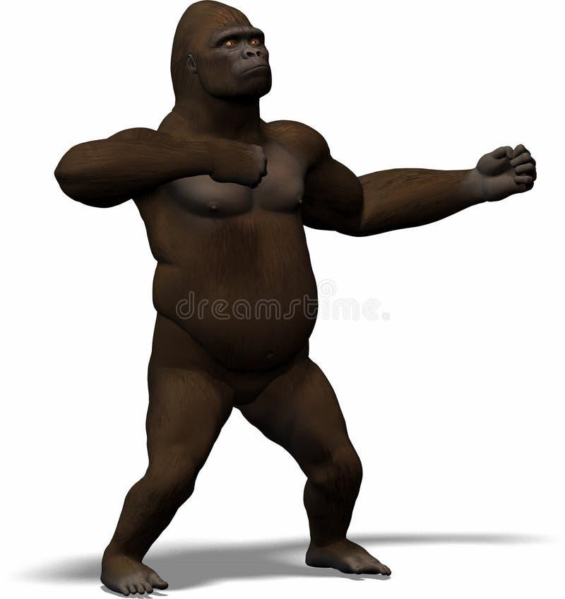 Kong, Koning van de wildernis vector illustratie