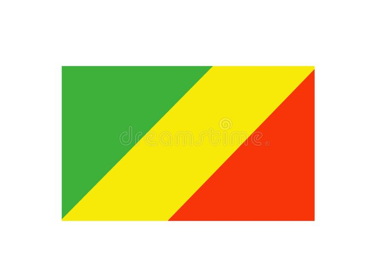 Kongo malował chorągwianego Patriotycznego starego grunge tło Flaga państowowa Congo royalty ilustracja