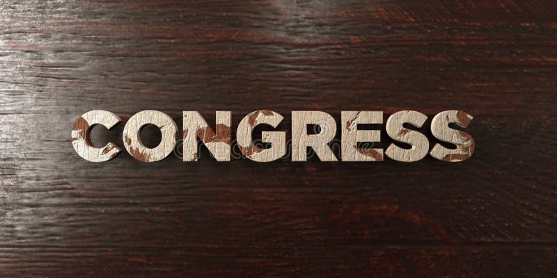 Kongres - grungy drewniany nagłówek na klonie - 3D odpłacający się królewskość bezpłatny akcyjny wizerunek royalty ilustracja