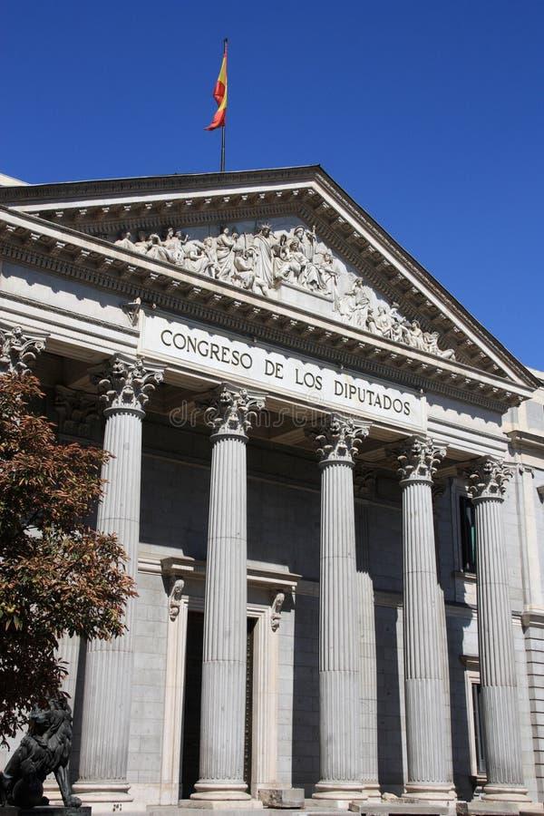 kongres Spain obraz royalty free