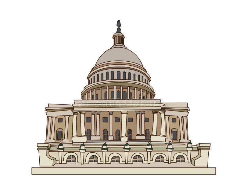 kongres usa ilustracja wektor