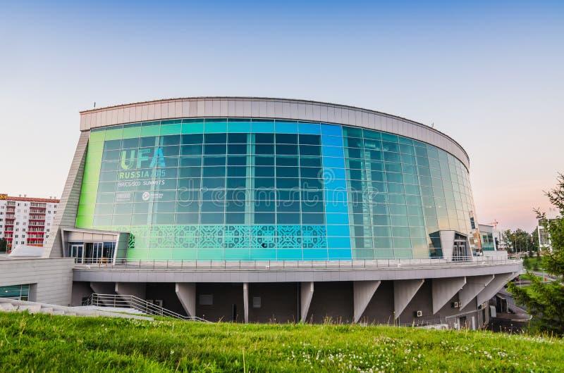 Kongresowa sala w Ufa mieście Miejsce wydarzenia BRICS szczyt 08-10 2015 Lipiec zdjęcia royalty free