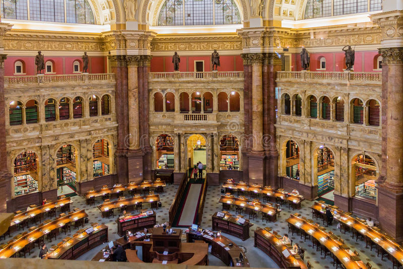 Kongresowy Biblioteczny Podsufitowy Waszyngton fotografia stock