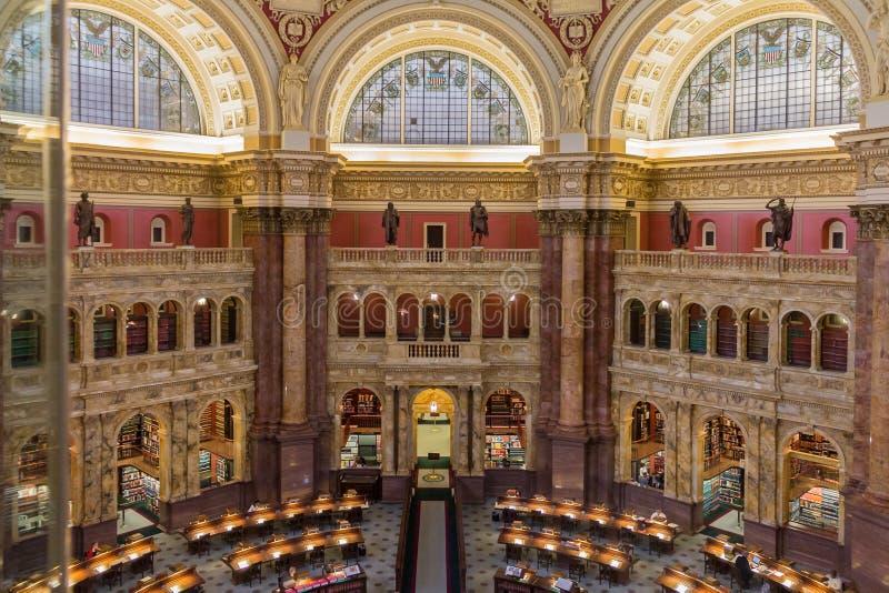 Kongresowy Biblioteczny Podsufitowy Waszyngton zdjęcia royalty free