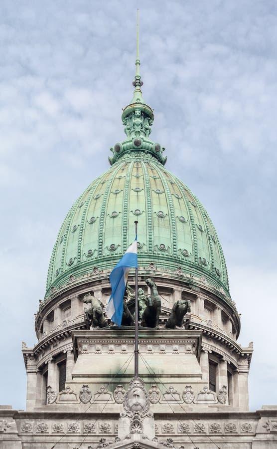 Kongresowy Buduje Buenos Aires Argentyna zdjęcie royalty free