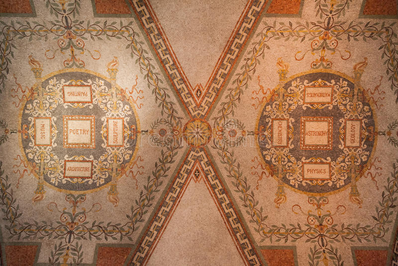 Kongressarkivtak Washington royaltyfria foton
