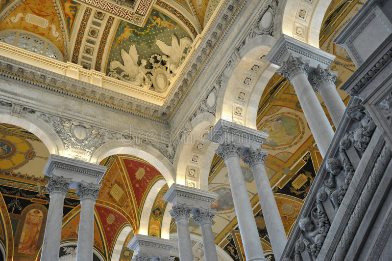 Kongressbibliothek, Washington, Gleichstrom lizenzfreie stockfotos