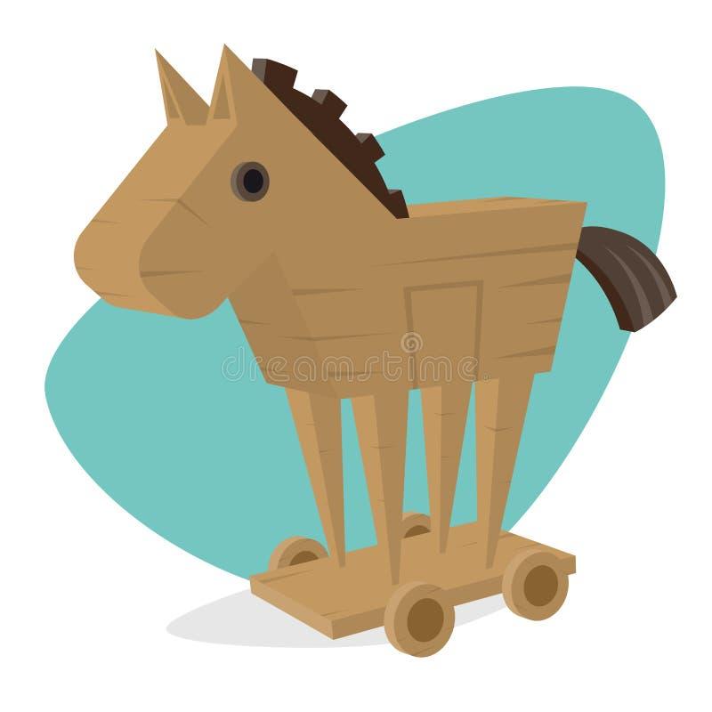 Konia trojańskiego clipart ilustracja wektor