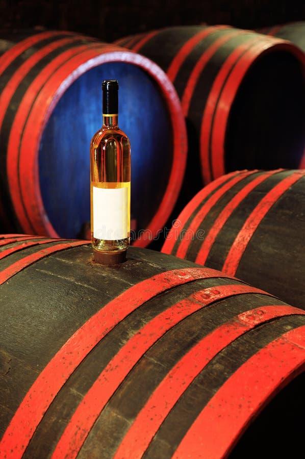 koniak bocznej piwnicy oak wino tam obrazy stock