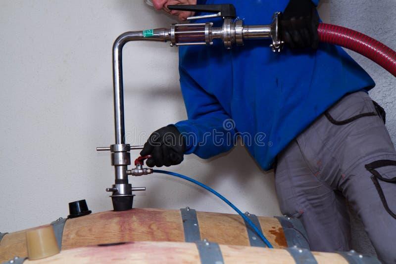 koniak bocznej piwnicy oak wino tam zdjęcie royalty free