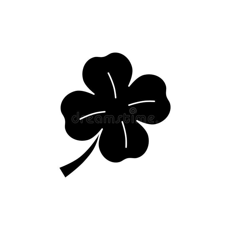Koniczyna czarna ikona royalty ilustracja