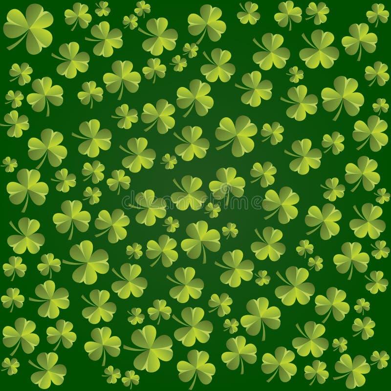 Koniczyna liści wzór Wektorowy tło dla St Patricks dnia royalty ilustracja
