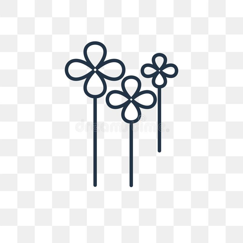 Koniczynowa wektorowa ikona odizolowywająca na przejrzystym tle, liniowy Cl ilustracja wektor