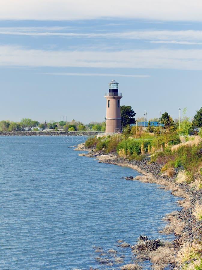 Koniczynowa wyspy latarnia morska. Kennewick, WA fotografia royalty free