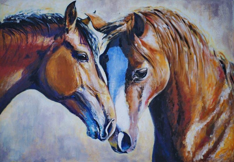 konie ilustracja wektor