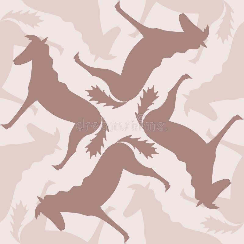 konie deseniują bezszwowego ilustracji