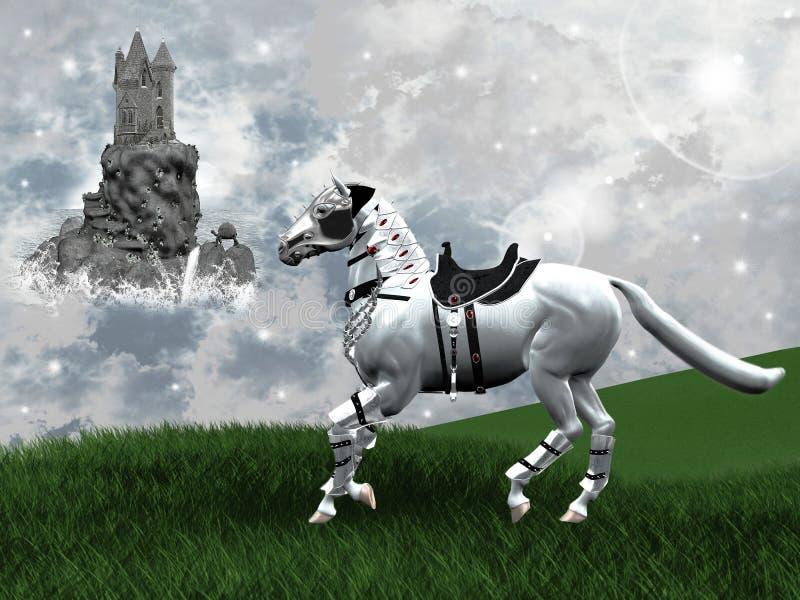 konie dzicy ilustracja wektor