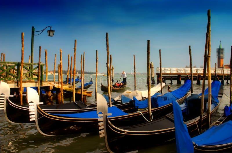 koniec dnia s Wenecji zdjęcia stock