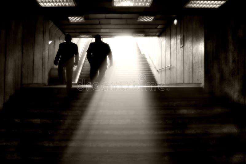 koniec tunelu światła zdjęcia royalty free