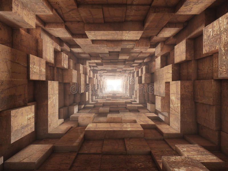 koniec tunelu royalty ilustracja
