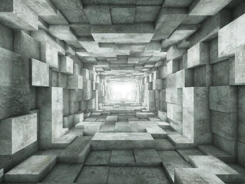 koniec tunelu ilustracji