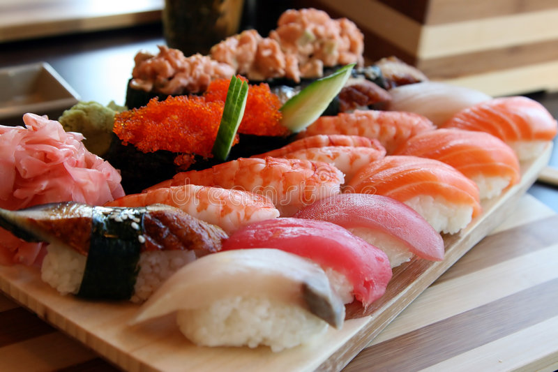 koniec zwija sushi fotografia stock