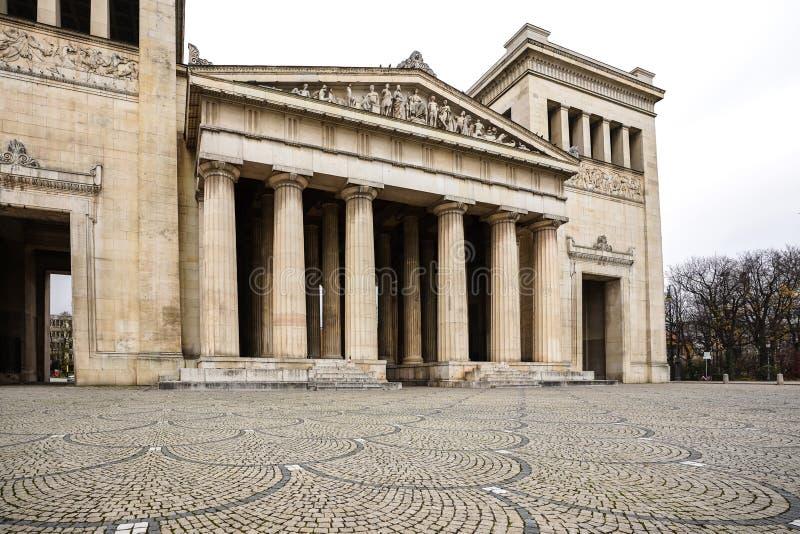Konigsplatz - Square,国家资本慕尼黑,巴伐利亚,慕尼黑,德国国王 免版税库存图片