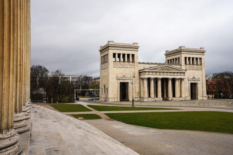 Konigsplatz - Square,国家资本慕尼黑,巴伐利亚,慕尼黑,德国国王 免版税库存照片