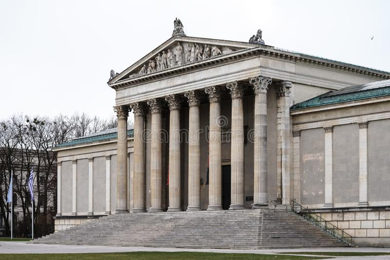 Konigsplatz - Square,国家资本慕尼黑,巴伐利亚,慕尼黑,德国国王 免版税图库摄影