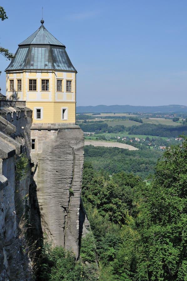 konigstein elbe над башней стоковая фотография