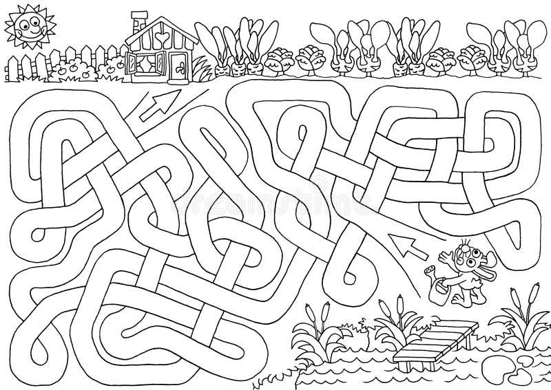 Konijntjestuin vector illustratie