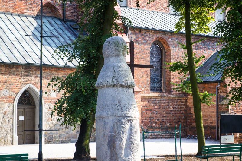 Konin, Польша Самый старый поляк - дорожный знак в Польше Большая провинция Польши стоковое изображение rf