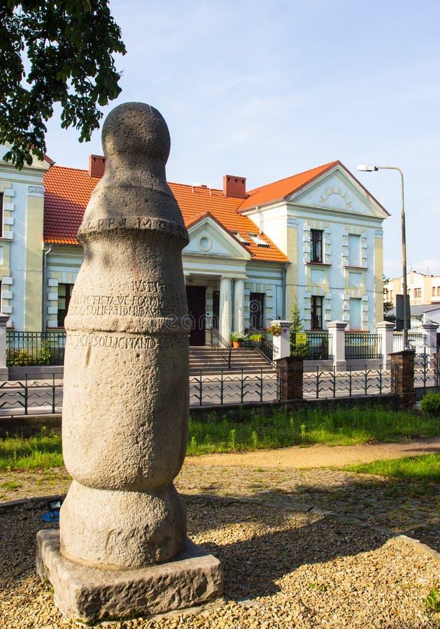 Konin, Польша Самый старый поляк - дорожный знак в Польше Большая провинция Польши стоковая фотография