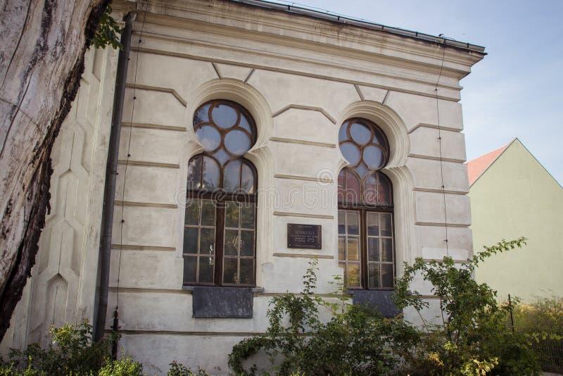 Konin, Польша Историческая синагога малого польского городка вызвала Konin Большая провинция Польши стоковое фото