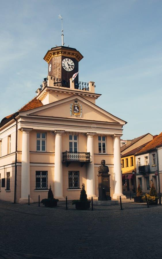 Konin, Polen Historisch stadhuis De grotere provincie van Polen stock afbeeldingen