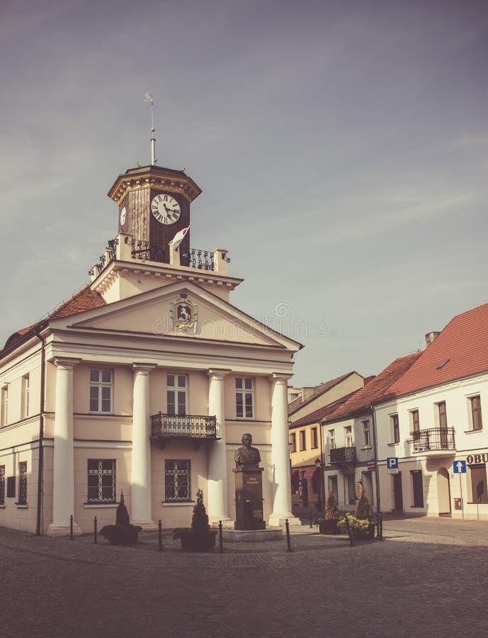 Konin, Polen Historisch stadhuis De grotere provincie van Polen stock fotografie