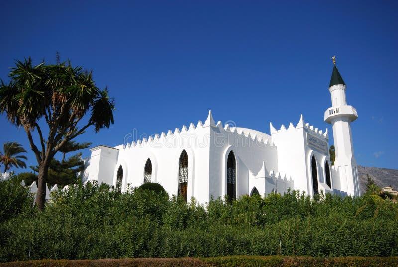 Koning Abdul Aziz Al Saud Mosque, Marbella, Spanje stock afbeelding