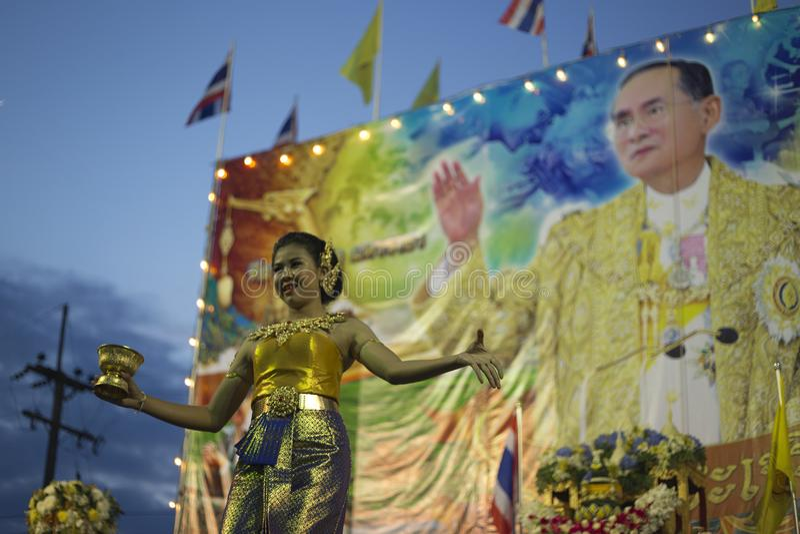 Koning Bhumibol Adulyadej RAMA IX royalty-vrije stock foto