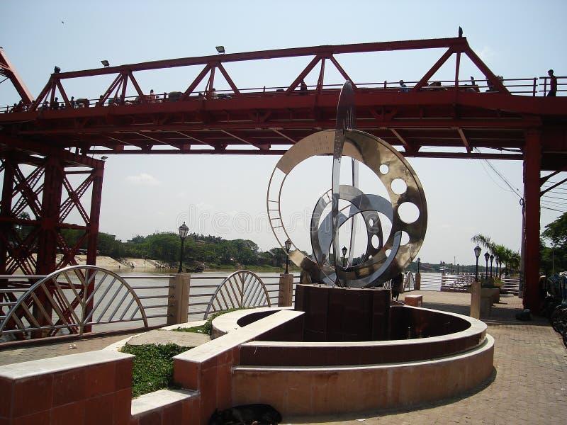 Koning Bridge, Sylhet, Bangladesh 2007 royalty-vrije stock foto's
