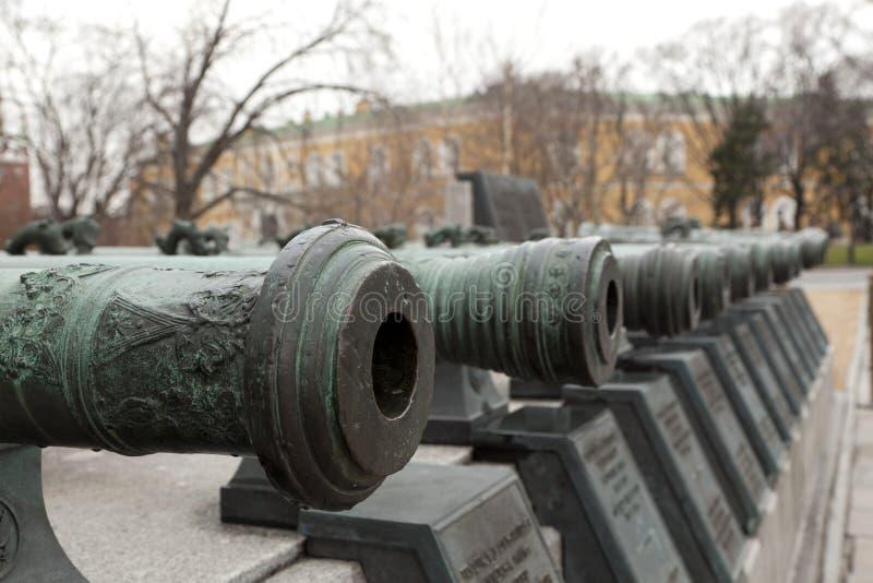 Koning Cannon Tsar Cannon in Moskou royalty-vrije stock foto