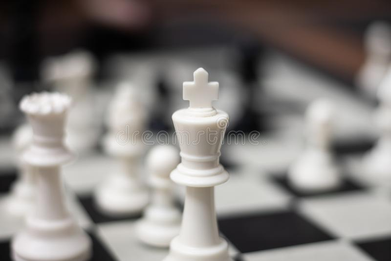 Koning Chess Game Piece royalty-vrije stock foto's