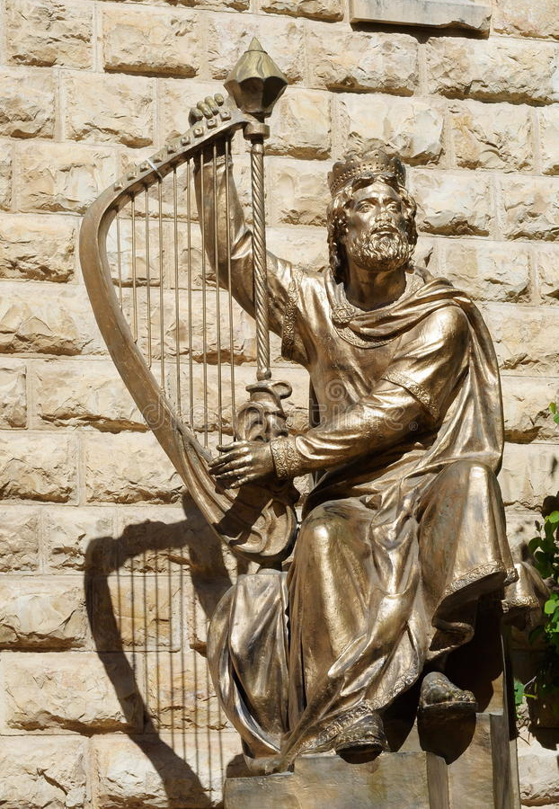 Koning David stock foto's