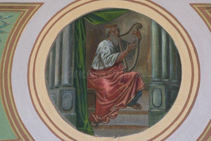 Koning David royalty-vrije stock foto